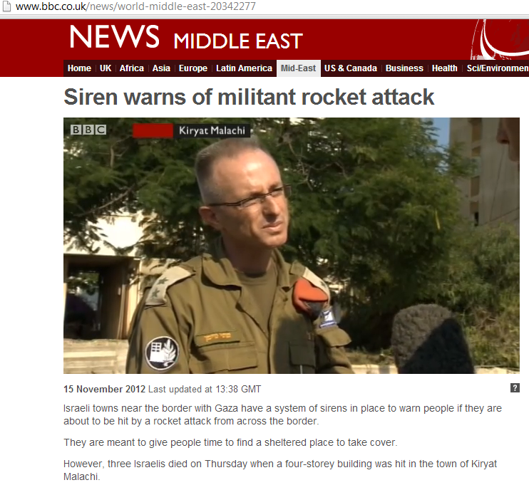BBC reports (sort of) from Kiryat Malachi