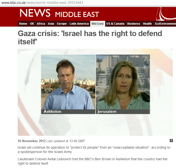 BBC's Ben Brown covers events in Israel – by talking about Gaza