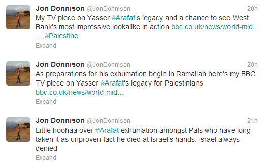 BBC's Jon Donnison does another make-over on Arafat