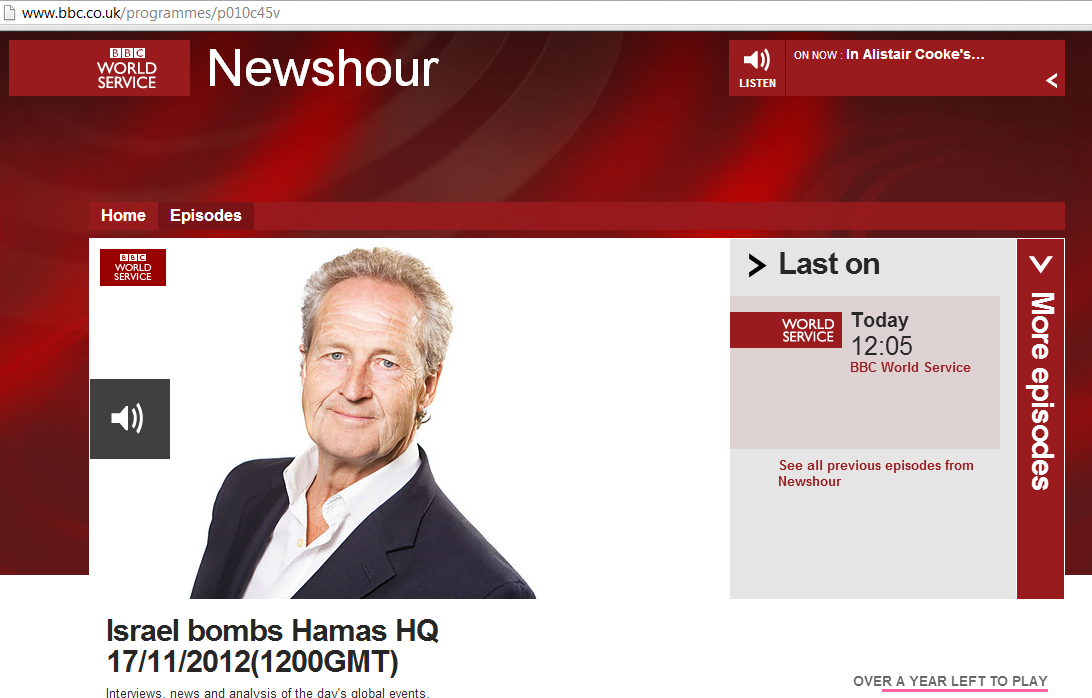 BBC World Service dusts off 'disproportionate'