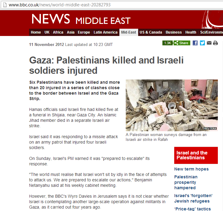 "BBC's Jon Donnison thinks escalation in southern Israel is a ""PR battle"""