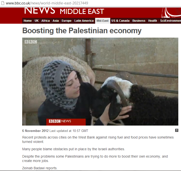 BBC does 'The Palestinian Authority economy for dummies'