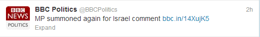 BBC politics tweet Ward