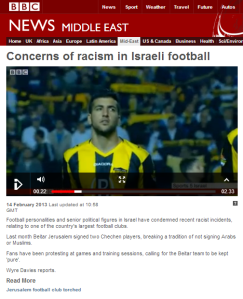 Comparing BBC reporting on English and Israeli football hooligans