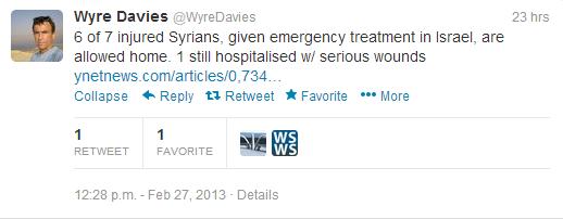 Daview tweet injured Syrians