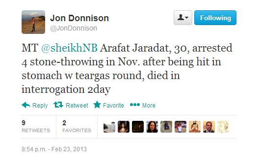 Donnison Jaradat tweet