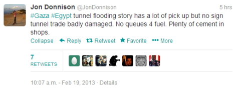 Donnison tunnels tweet
