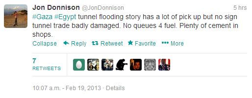 Donnison tunnels tweet