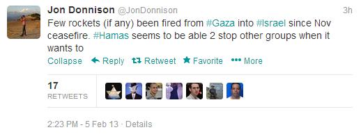 Donnison tweet rockets