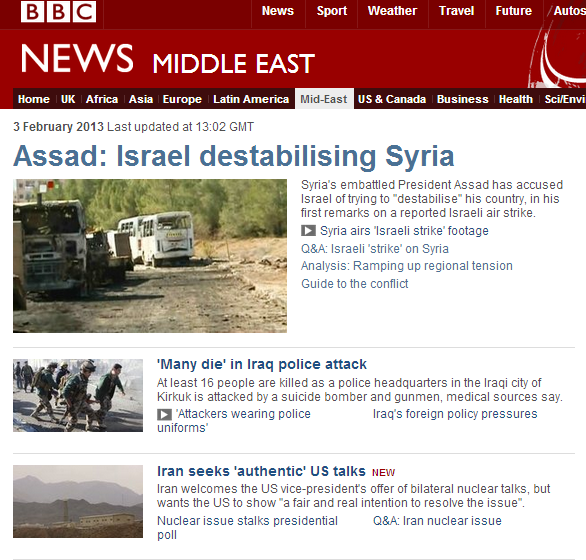 "BBC unquestioningly promotes Assad's ""destabilisation"" claims"