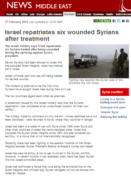 BBC throws mud over repatriation of Syrians