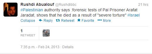 Rushdi tweet Jaradat