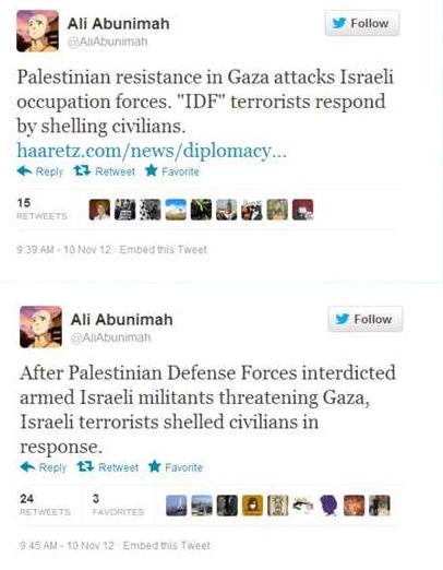 abunimah gaza tweets