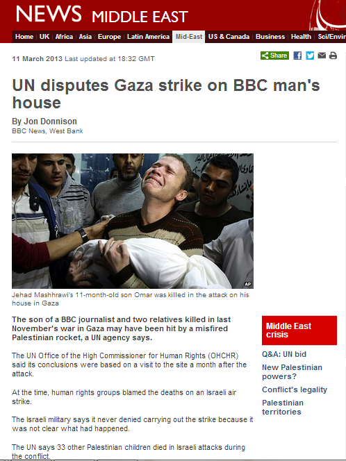 BBC appoints Jon Donnison as 'Shin Gimmel' of Masharawi story