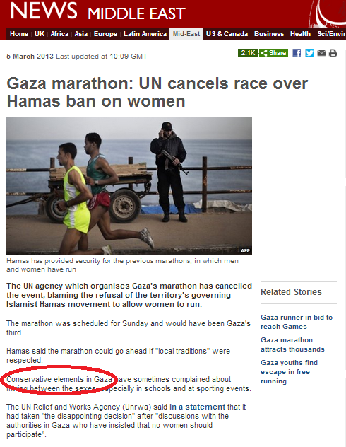 BBC euphemism of the (International Women's) day