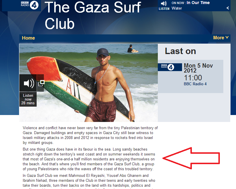 BBC corrects webpage of 'Gaza Surf Club' report