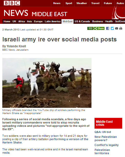 BBC's Knell showcases Electronic Intifada