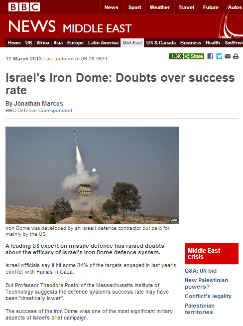 BBC's Jonathan Marcus and the Iron Dome
