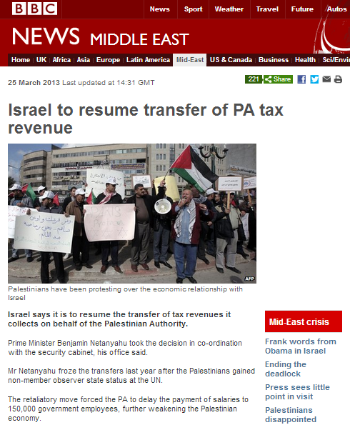 BBC promotes selective narrative on PA economy
