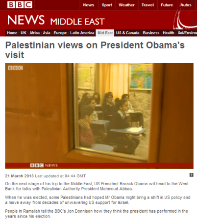 Palestinian views Obama