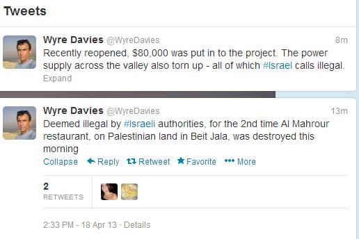 Davies Beit Jala tweets