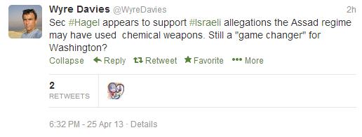 Davies tweets Syria Sarin 25 4