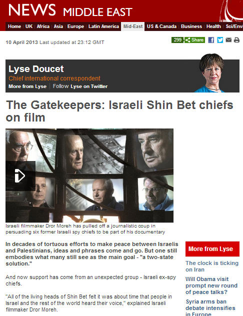 BBC uses 'Gatekeepers' to advance its own weary mantras on Israel