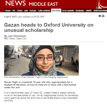 Gaza to Oxford