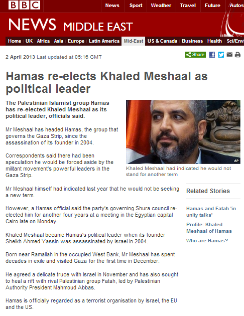 Inaccuracies in BBC report on Masha'al re-election