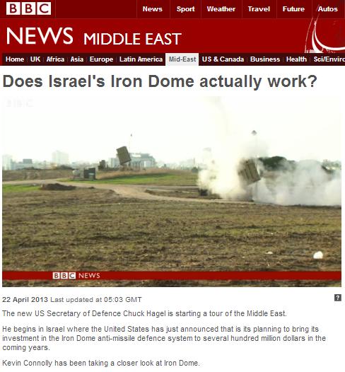 Iron Dome filmed