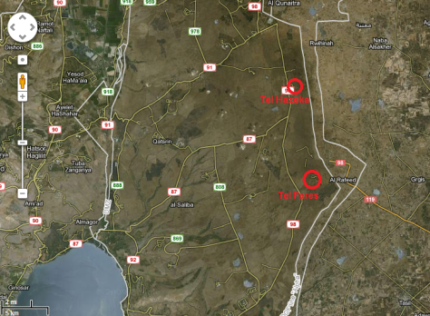 Map Tel Hazeka
