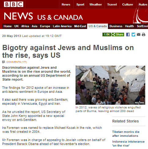 BBC article on rising bigotry hosts antisemitic comments