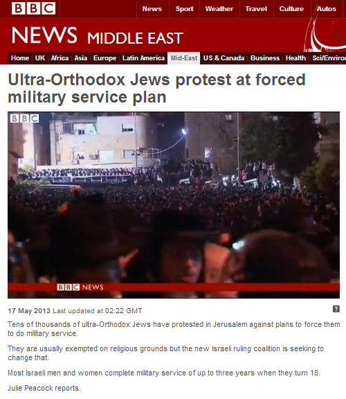 An interesting use of the word 'missiles' by the BBC