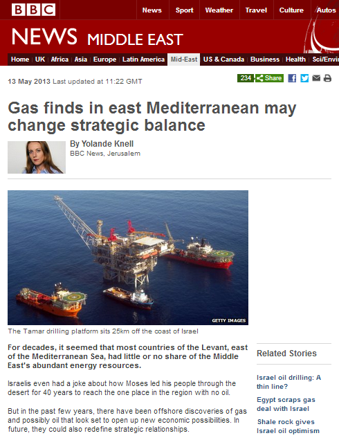 BBC's Knell inaccurate on naval blockade of Gaza Strip