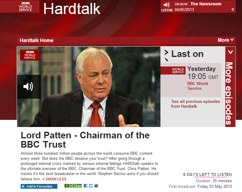 BBC's Sackur suggests being pro-Israel should be a problem