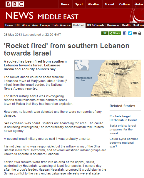 BBC report on the rocket that wasn't