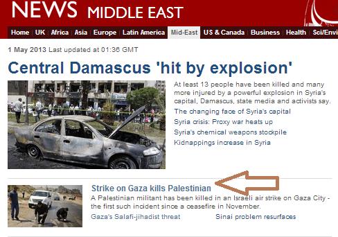 strike on gaza kills palestinian