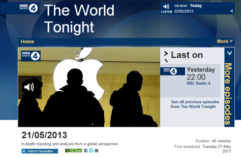 The World Tonight 21 5