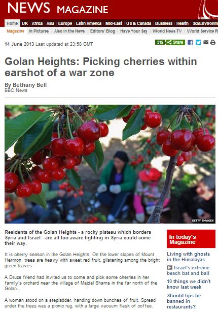 cherries Golan Bell