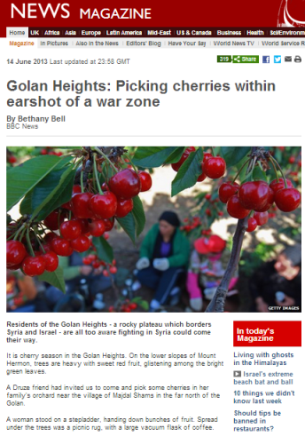 cherries Golan Bell