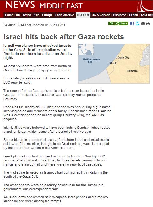 Gaza missiles Sun night