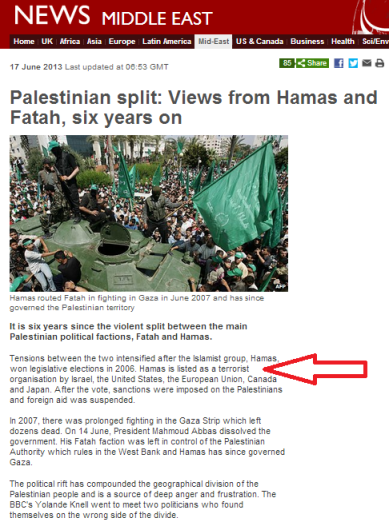 Hamas terror listing