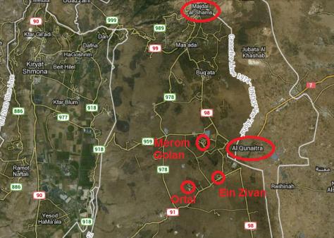 map quneitra