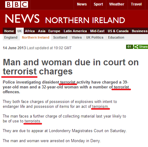 More evidence of BBC double standards on terrorism