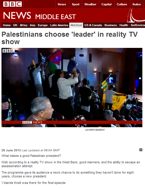 More BBC coverage of Middle East reality TV