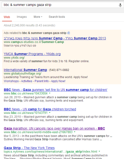 search bbc & summer camps