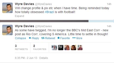 Twitter Davies Rio
