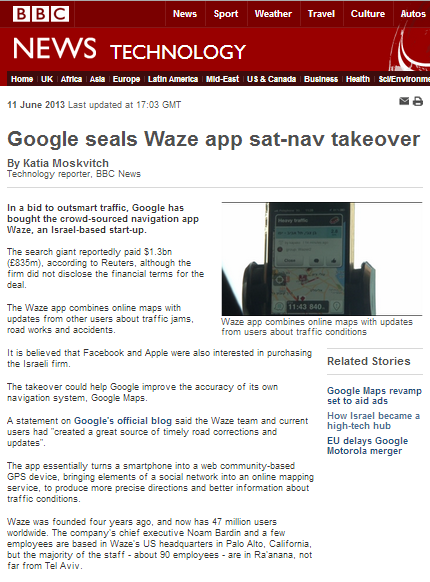 BBC gets it right – on matkot and Waze