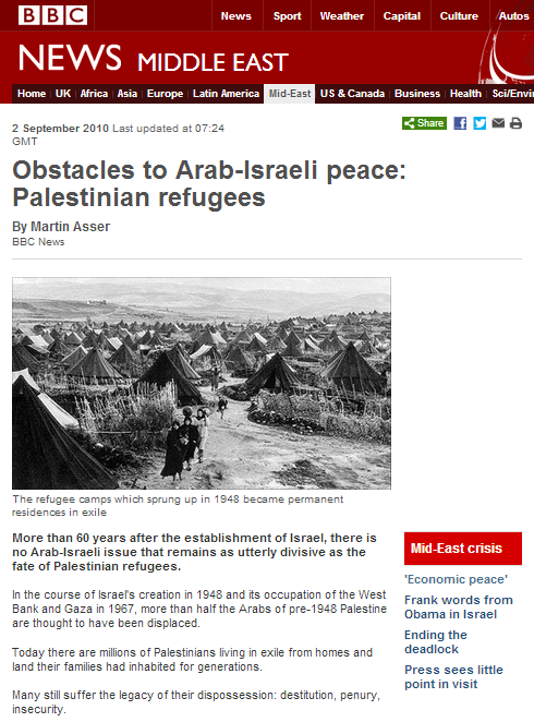 BBC's 'Obstacles to Peace': wrong on right of return – Part 1