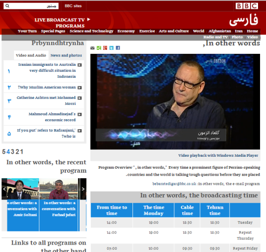 Atzmon BBC Persia